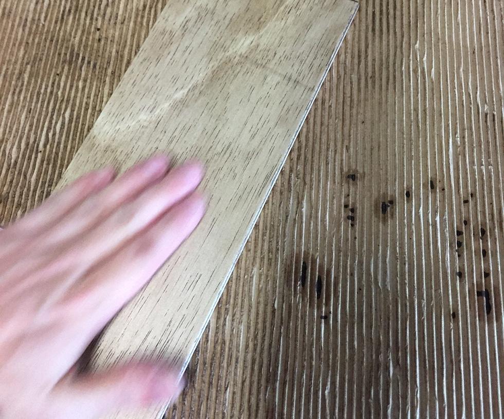 ラワン合板の床 ペーパー