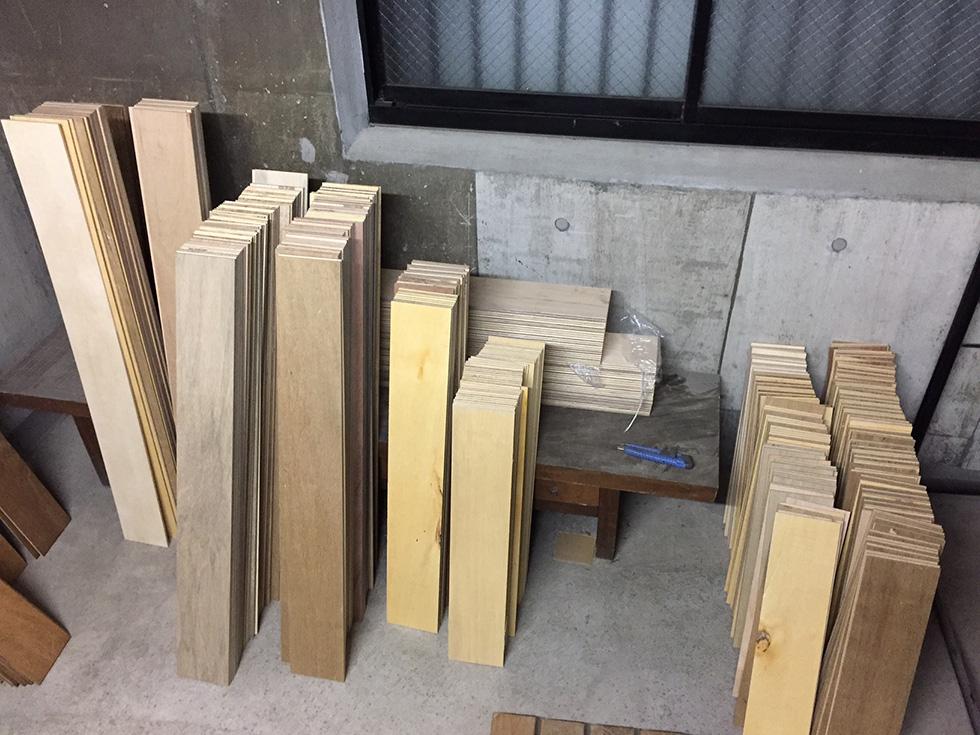 ラワン合板の床 塗装